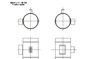 電動ダンパーMD-200 CADデータ