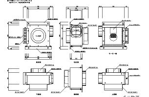 ソーラーファンボックスSS-F16外観図CADデータ