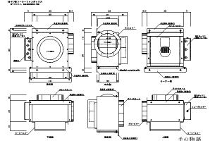 ソーラーファンボックスSS-F17外観図CADデータ