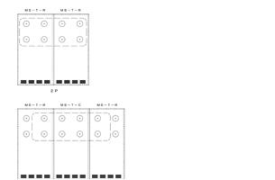 縦型集熱パネルダクト接続位置CADデータ