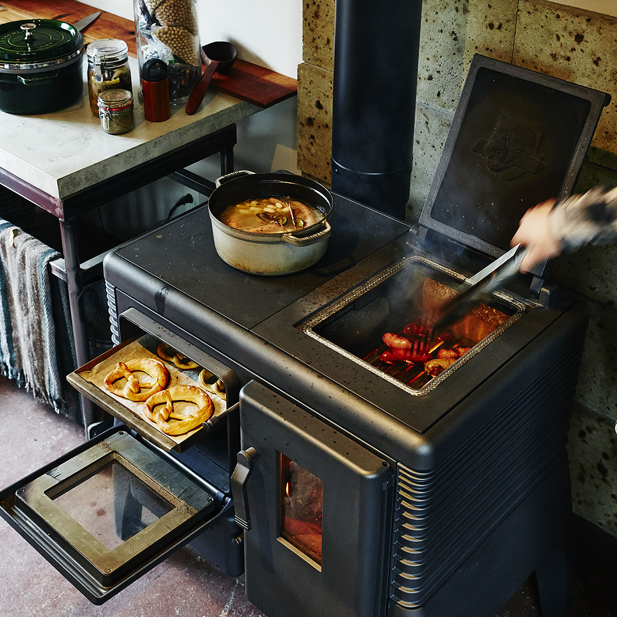 アイアンドッグ no6 料理のできる薪ストーブ